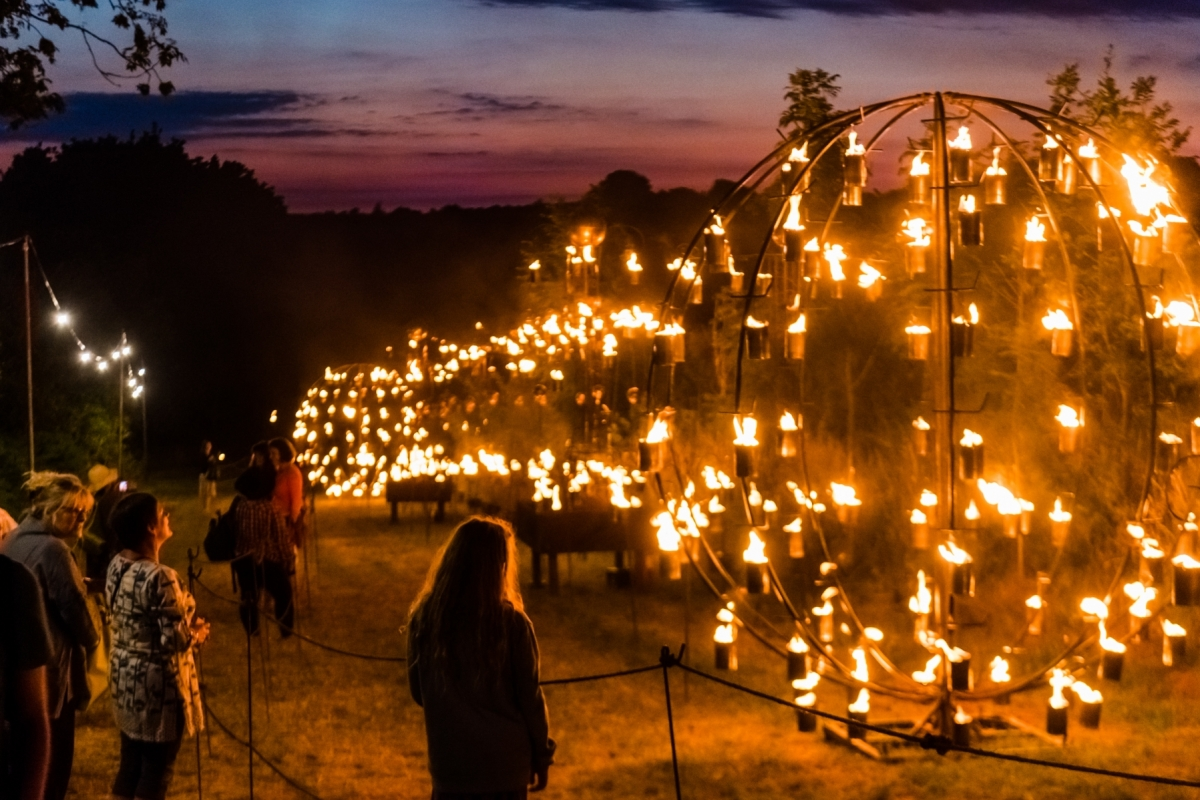 Fire Garden by Pa Boom at Timber Festival credit_Andrew_Allcock